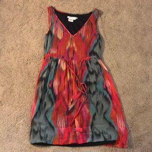 Colorful silk dress